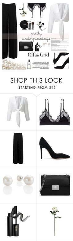 """Pretty Underpinnings"" by carolinafrancesca ❤ liked on Polyvore featuring Chanel, LoveStories, Alexander McQueen, Gianvito Rossi, H&M, CHARLES & KEITH, INIKA, Nearly Natural and prettyunderpinnings"