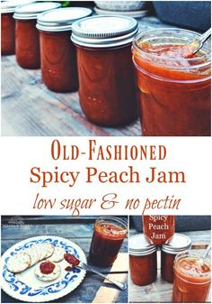 This is the best canned spicy peach jam recipe! Made without pectin, low sugar, and complete with easy canning instructions. Jam Recipes, Canning Recipes, Peach Jam Recipe Without Pectin, How To Peel Peaches, Easy Canning, Canning Peaches, Peach Preserves, Water Bath Canning, Do It Yourself Inspiration