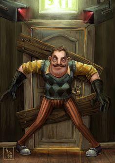 Hello, Neighbor! - Do Not Enter by ukalayla on DeviantArt