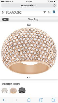 Swarovski Gold Stone Ring