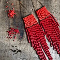 Seed Bead Jewelry, Bead Jewellery, Seed Bead Earrings, Diy Earrings, Earrings Handmade, Beaded Jewelry, Handmade Jewelry, Seed Beads, Hoop Earrings