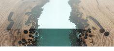 Canal - un fiume di resina fra due vecchie tavole tarlate. by Alcarol