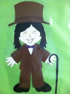 Willy Wonka Cricut Everyday Paper Dolls - Willy Wonka