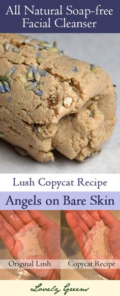 Copycat recipe for Lush's 'Angels on Bare Skin' - a very popular soap-free facial cleanser