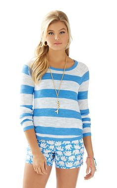 efe08cf86d50 The Hollin Striped Sweater is the perfect pullover for vacation. Throw this  sweater on with. Lilly Pulitzer
