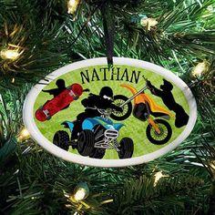 Personalized All Star Sports Ceramic Oval Ornament, 2, Multicolor