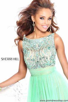 154376b764f5 Фотографии красивых девушек Chiffon Gown, Sherri Hill Prom Dresses, Tulle Prom  Dress, Mint