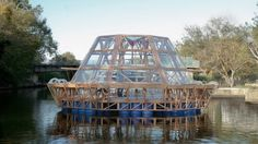 The Jellyfish Barge operates off-grid and produces its own water via an onboard system of ...