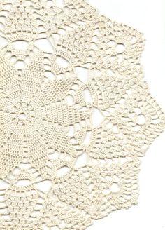 Crochet doily lace doily table decoration crocheted by DoilyWorld