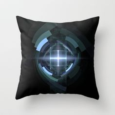 NeonSeries012 Throw Pillow by fracts - fractal art - $20.00