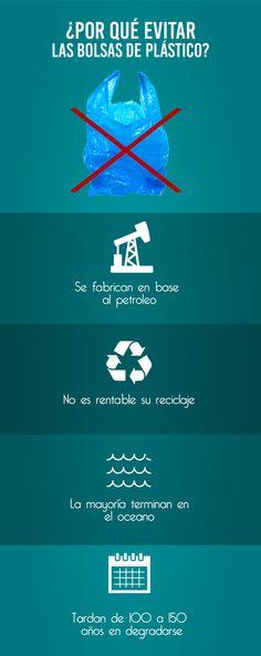 Por un mundo mejor, evitemos las bolsas de plástico.