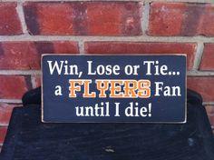 Philadelphia Flyers Fan Sign by Dingbatsanddoodles on Etsy, $13.00