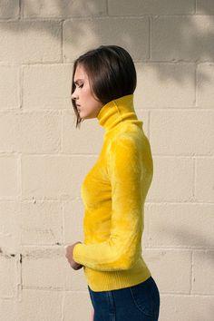 Creatures of Comfort - Yellow Shrunken Turtle Neck | BONA DRAG