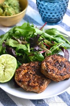 Lean chicken patties, made with sweet and black beans and seasoned with southwestern spices. All clean eating ingredients are used for this healthy chicken recipe. Pin now to make later! New Recipes, Real Food Recipes, Cooking Recipes, Healthy Recipes, Healthy Dishes, What's Cooking, Tasty Dishes, Chicken Patty Recipes, Ground Chicken Recipes