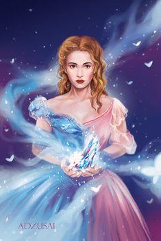 Cinderella by AngelofDeathz on DeviantArt Cinderella Disney, Disney Princess, Disney Images, 2015 Movies, Body Drawing, Disney And Dreamworks, Disney Animation, Wonders Of The World, Pixar