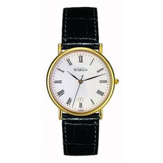 michelle herbelin watches | Michel Herbelin Gents White Dial Black Leather Classic Strap Watch ... Big Watches, Style And Grace, Quartz Watch, A Team, Diamond Engagement Rings, Black Leather, Wedding Rings, Jewels, Yellow