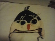 Cappello gufo fatto ad uncinetto