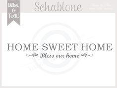 Vintage Schablone * HOME 1 * French Shabby Look von Basket & Pillow auf DaWanda.com