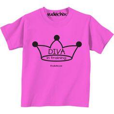 """Kid's """"Diva in Training"""" T-Shirt by Rudechix"""