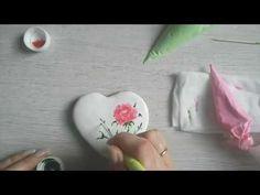 Роспись по мокрому рисунок роза. Роспись пряников с Юлией Милье./how to decorate wet on wet cookie - YouTube