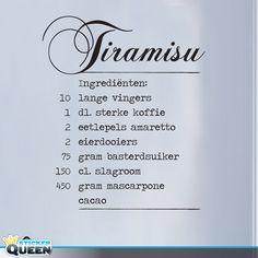 Artikel: LS0006 Recept van Tiramisu