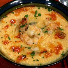 Beth's Ocracoke Shrimp and Grits @keyingredient #cheese #cheddar #shrimp