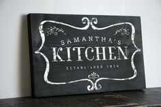 Personalized Kitchen Signs hand Painted in Rustic Design for the Perfect Kitchen Wall Sign