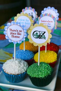 Party Circles/Cupcake Toppers Wizard of Oz - Kids Birthday Party - DIY PRINTABLE FILES by Sassaby on Etsy, $6.50