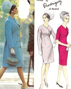 Vintage 1960s Misses Dress and Coat Size 12 by patternpalooza, $55.00