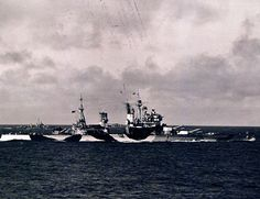 British Royal Navy battleship, HMS Anson (King George V-class battleship) starboard view, August 31, 1943. U.S. Navy Photograph.
