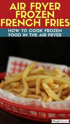 For my boys Air Fryer Frozen French Fries. Learn how to cook delicious frozen fries in the air fryer. Whether you like McCains or another brand frozen air fryer fries can chop the calories right down! Air Fryer Recipes Potatoes, Air Fryer Oven Recipes, Air Fryer Baked Potato, Air Fryer Recipes For French Fries, Air Fryer Recipes Appetizers, Air Fryer Recipes Vegetables, Cook Potatoes, Air Fryer Recipes Breakfast, Cheesy Potatoes