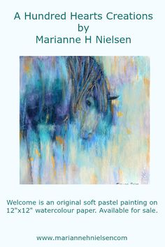 """Welcome is an original soft pastel painting on 12""""x12"""" watercolour paper. Available for sale."""