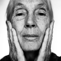 Jane Goodall by Philipp Horak I would love to be as adventurious has see was and is and to have the faith that i could make a change. Male Profile, Feelin Groovy, Jane Goodall, Black And White Portraits, Lee Jeffries, Real Beauty, Real People, Pictures, Photography