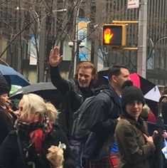 Here are fan & media pics of Sam Heughanas Grand Marshal at the NY Tartan Parade See more pictures after the jump –