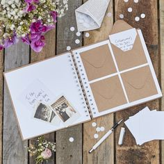 Envelope and Notecard Guestbook - Wedding Guest Book - Guest Book - Rustic Wedding - Best Day Ever Guest Book Rustic Wedding Guest Book, Wedding Book, Diy Wedding, Wedding Favors, Wedding Decorations, Wedding Day, Wedding Unique, Guest Book Ideas For Wedding, Unique Guest Book Ideas