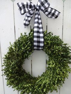 Boxwood Wreath Buffalo Ribbon Dried Wreath Home Decor Wall Decor Natural Wreath Hostess Gift Green Wreath Holiday Decor – Boxwood Wreath İdeas. Twig Wreath, Boxwood Wreath, Green Wreath, Tulle Wreath, Burlap Wreaths, Indoor Wreath, Outdoor Wreaths, Holiday Wreaths, Spring Wreaths