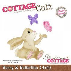 Cottage Cutz Bunny & Butterflys von Prell Versand auf DaWanda.com