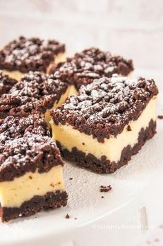 Sernik królewski Polish Desserts, Polish Recipes, Baking Recipes, Cookie Recipes, Dessert Recipes, Sweet Desserts, Sweet Recipes, Baklava Cheesecake, Vegan Junk Food