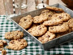 Chocolate Chip Oatmeal Cookies--6/22/16 These are amazing! They have everything I love--chocolate chips, oatmeal, nuts--and the little bit of maple syrup gives them a nice flavor. They bake up crispy on the outside, soft and chewy on the inside. A Keeper!!