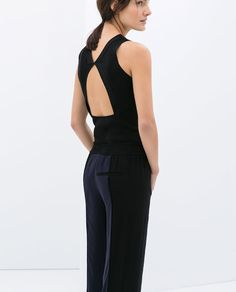 Image 1 of TOP WITH OPEN BACK from Zara