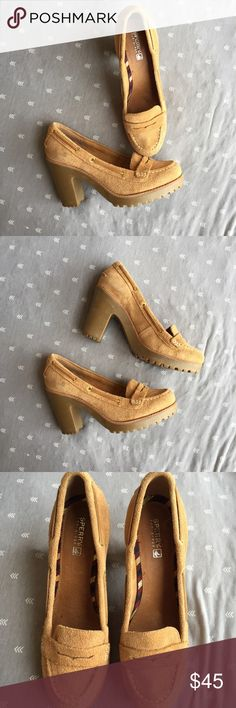Sperry Darlington loafer Pump Sorry Top Sider Darlington pump. Cognac color. Suede, loafer style. Size 8. Pre-loved - great condition, very minor scuffing, soles are in excellent condition. Sperry Top-Sider Shoes Heels