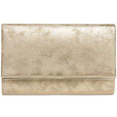 ac528bb82 CASPAR TA381 Bolso de Mano Fiesta para Mujer/Clutch Elegante con Cadena  Larga, Color oro;Tamaño: Talla Única. ORO DORADO