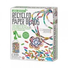 Use paper to make colorful, one-of-a-kind paper bead jewelry with this award-winning Toysmith Recycled Paper Beads Green Creativity Kit. The bead winding tool turns ordinary paper strips into a tight bead that people will insist cannot possibly be Paper Bead Jewelry, Paper Beads, Jewelry Art, Bead Jewellery, Fashion Jewellery, Beaded Jewelry, Science Kits, Bead Kits, Paper Strips