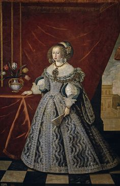 1646 Mariana of Austria, Queen consort of Spain by Frans Luyckx (Museo del Prado - Madrid, Spain). From their Web site. Infanta Margarita, Elizabeth Bathory, Austria, Adele, Anne Of Denmark, Henrietta Maria, Spanish Netherlands, 17th Century Fashion, Mariana