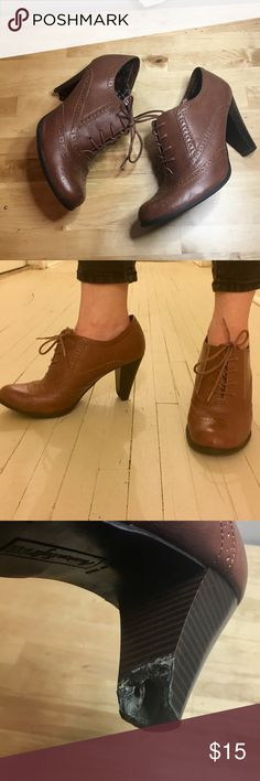 American Eagle booties These are stunning, with a cute vintage look. The right heel has minor damage BUT ARE NOT noticeable while walking. This is reflected in the price. American Eagle Outfitters Shoes