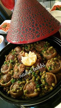 My Artichokes stuffed with peas Recetas Ramadan, Ramadan Recipes, Morrocan Food, Moroccan Kitchen, Plats Ramadan, Tunisian Food, Algerian Recipes, Indian Food Recipes, Ethnic Recipes