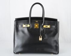 0244983c01d Classic Find Hermes Birkin Bag 35cm Black Box W Gold Hardware Couture  Outfits