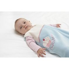 I hear these are a must-have starting around 4 months, cuz she'll kick any blankets off of her.  ::shrug:: pretty cute. Target Mobile Site - Halo Fleece Cupcake Applique SleepSack - Medium