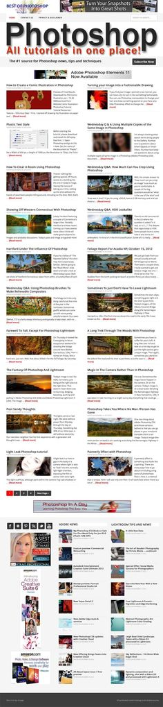 Photoshop tutorials, tips and news The site is fully on auto-pilot and updates all by itself at the time interval you specify. All the best tutorials, tips and lessons! Photoshop is a hugely popular software receiving over 50 million searches/month! High graphic content, all posts come with pictures. Adobe News and Lightroom also covered. Six highly converting adverts on each page, more could be added.