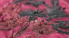 Red bullion embroidery for Hasan Hejazi